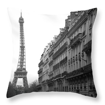 Throw Pillow featuring the photograph Down The Street by Lisa Parrish