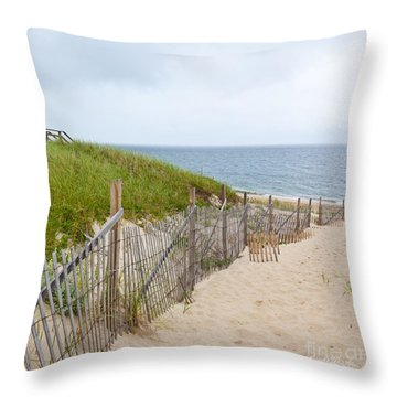 Down To The Beach Throw Pillow