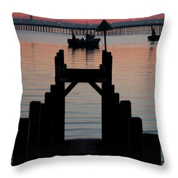 Down To The Sunset Sea Throw Pillow