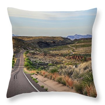 Downhill Run Throw Pillow
