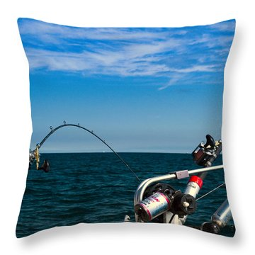 Downriggers Throw Pillow