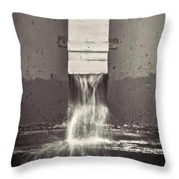 Downspout Throw Pillow by Rudy Umans