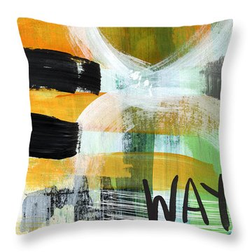 Downtown- Abstract Expressionist Art Throw Pillow