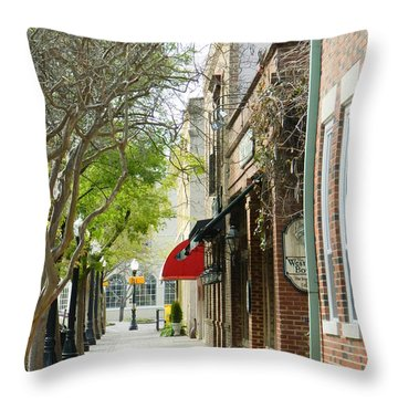 Downtown Aiken South Carolina Throw Pillow