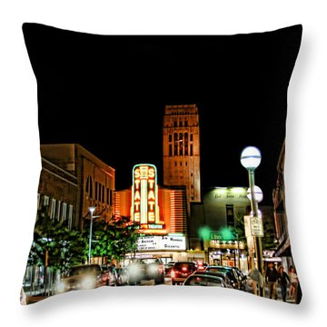 Downtown Ann Arbor Throw Pillow by Pat Cook