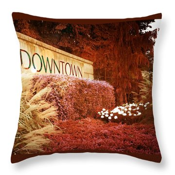 Throw Pillow featuring the photograph Downtown by Bob Pardue