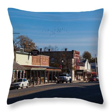 Downtown Boerne Throw Pillow