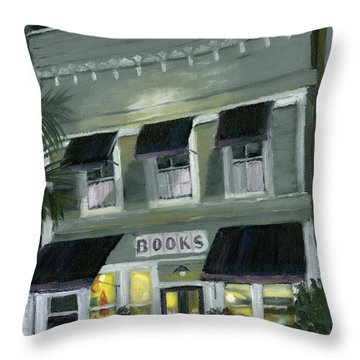 Downtown Books 11 Throw Pillow by Susan Richardson