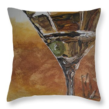 Downtown Brown Throw Pillow