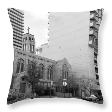Downtown Church  Throw Pillow