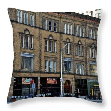 Downtown Detroit Throw Pillow by Frozen in Time Fine Art Photography
