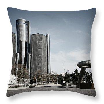 Downtown Detroit Throw Pillow