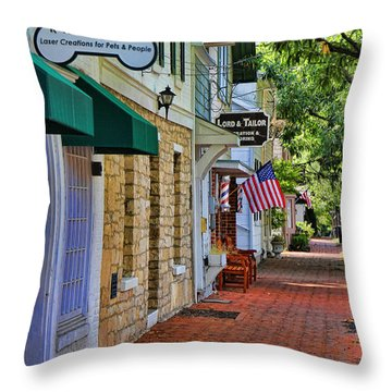 Downtown Dublin Ohio Throw Pillow