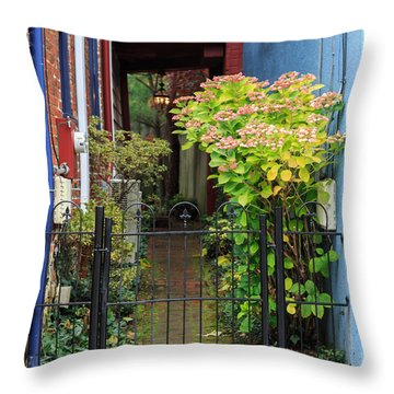 Downtown Garden Path Throw Pillow