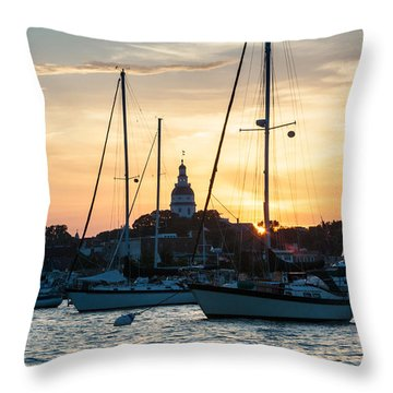 Downtown Glow Throw Pillow by Jennifer Casey