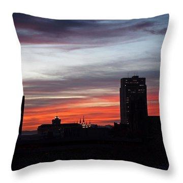 Downtown Glow Throw Pillow by Rona Black