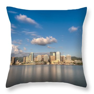 Downtown Honolulu Throw Pillow