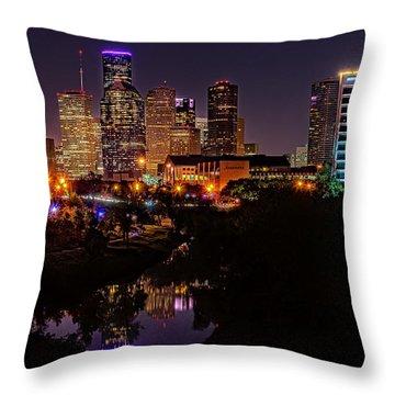 Downtown Houston Throw Pillow