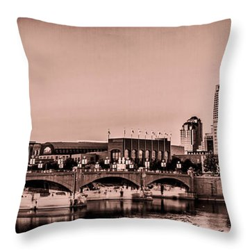 Downtown Indianapolis Throw Pillow