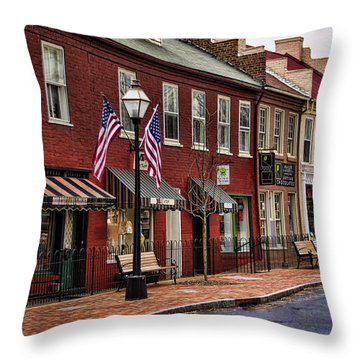 Downtown Jonesborough Tn Throw Pillow