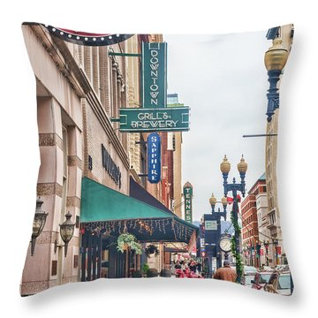 Downtown Knoxville Throw Pillow