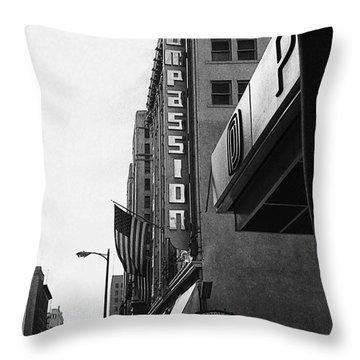 Throw Pillow featuring the photograph Downtown La - Mid '70's by Doc Braham