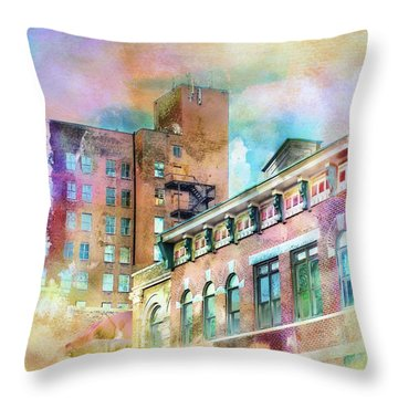 Downtown Living In Color Throw Pillow