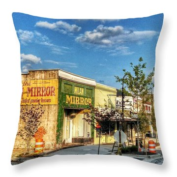 Downtown Milan Throw Pillow