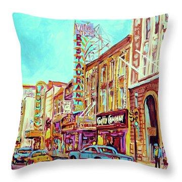 Downtown Montreal Throw Pillow by Carole Spandau