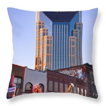 Downtown Nashville Throw Pillow by Brian Jannsen