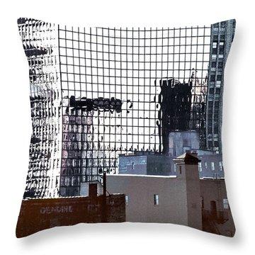 Downtown Newark Nj Throw Pillow