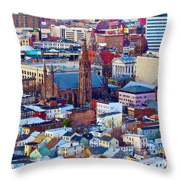 Downtown Paterson Throw Pillow