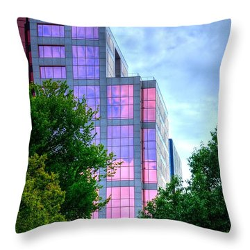 Downtown Reflections 17341 Throw Pillow