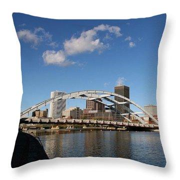 Downtown Rochester Throw Pillow