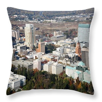 Downtown Sacramento And Capitol Park Throw Pillow by Bill Cobb