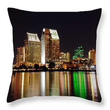 Downtown San Diego Throw Pillow by Gandz Photography
