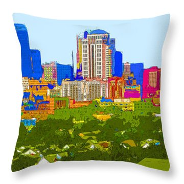 Downtown St. Louis From The Southwest Abstract Throw Pillow