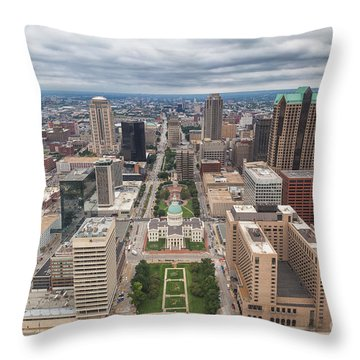 Downtown St Louis Old Courthouse Throw Pillow