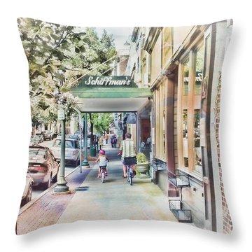 Downtown Sunday Throw Pillow