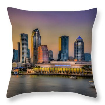 Downtown Tampa Throw Pillow by Marvin Spates