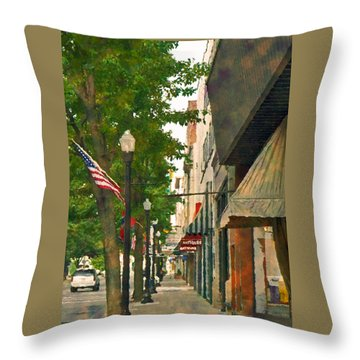 Downtown Usa Throw Pillow