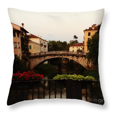 Downtown Vicenza Throw Pillow