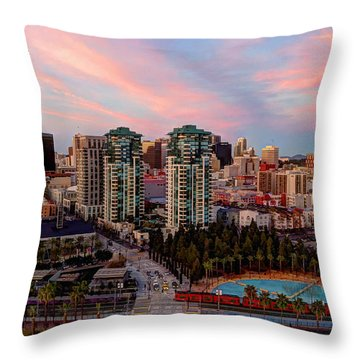 Throw Pillow featuring the photograph Downtown View San Diego by Heidi Smith