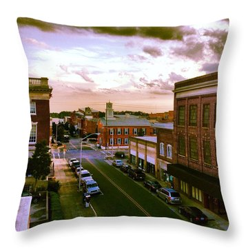 Downtown Washington Nc Throw Pillow