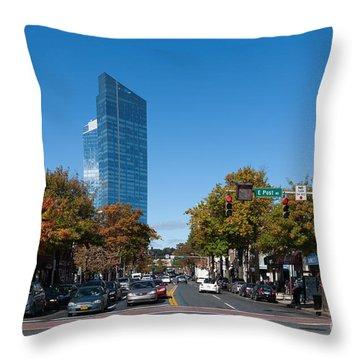Downtown White Plains New York IIi Throw Pillow