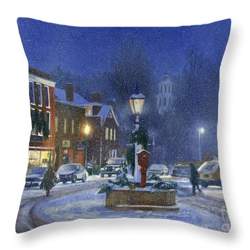 Downtown Woodstock Throw Pillow by Candace Lovely