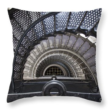 Downward Spiral Throw Pillow by Douglas Stucky