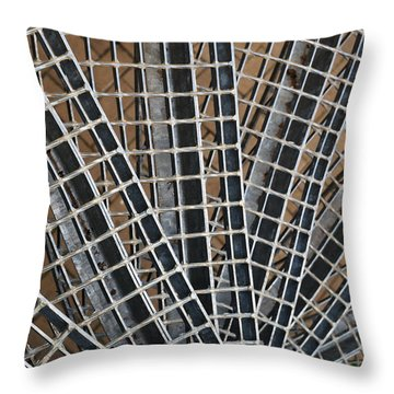 Downward Spiral Throw Pillow by Wendy Wilton