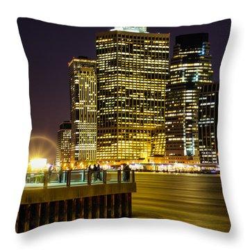 Downtown Lights Throw Pillow