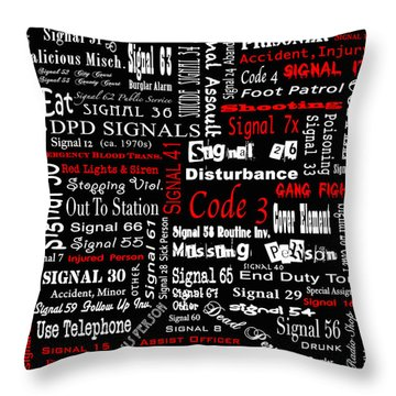 Dpd Signals Throw Pillow